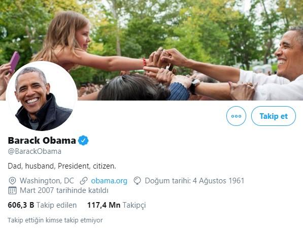 Twitter en çok takipçisi olanlar - obama