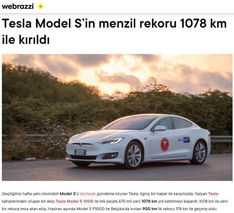 elektrikli arabaların şarjı kaç km gider