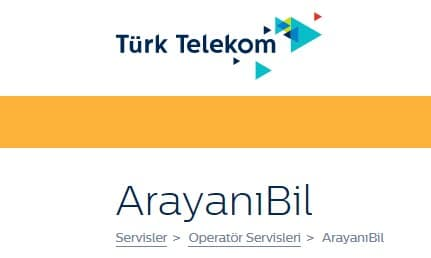 Türk Telekom Arayanı Bil Servisi