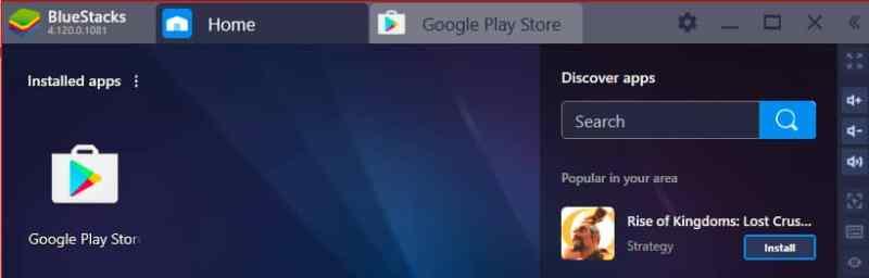 Home Sekmesinden Google Play Store'a Girin ve Among Us'ı Aratın