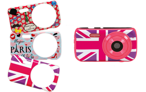 Digital Camera with 3 decorative Girly Illustrations 1