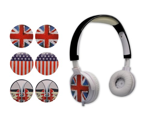 Headphones TRAVEL with 3 interchangeable faceplates 2