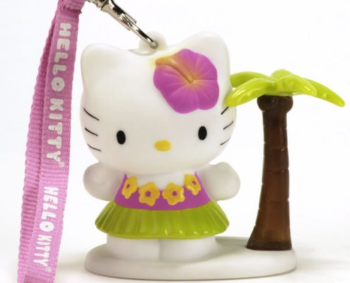 HELLO KITTY BEACH 8cm LED light with hand-strap 1