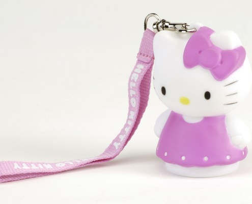 Figurine lumineuse Hello Kitty Robe rose 8 cm 5