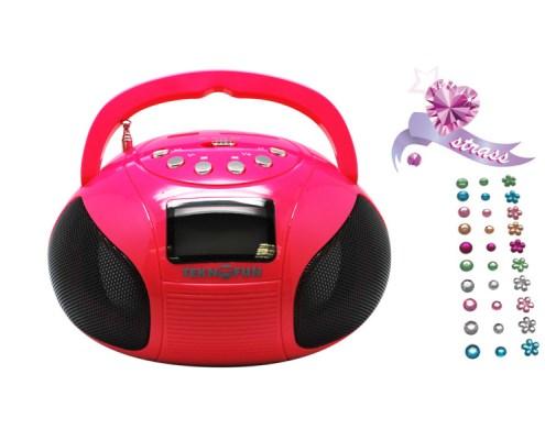 Mini Boombox Speaker PINK 3