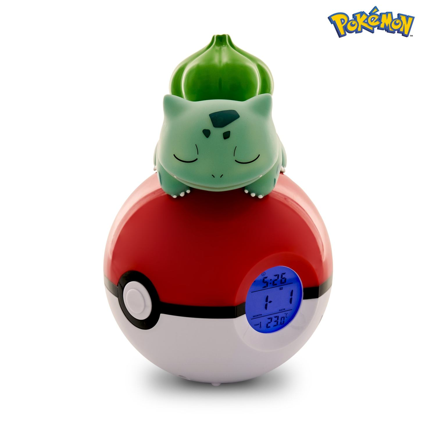 Pokémon Bulbasaur Light-up 3D figure FM Alarm Clock 1