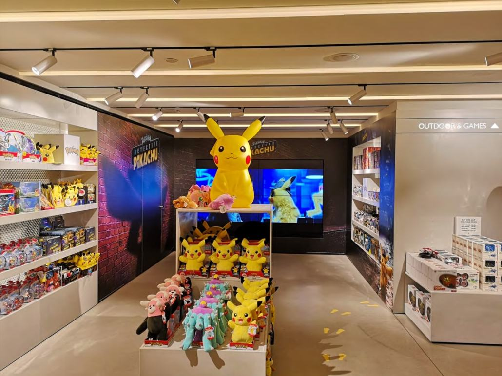 Nos produits Pokémon chez Harrods pour la sortie de Détective Pikachu 3