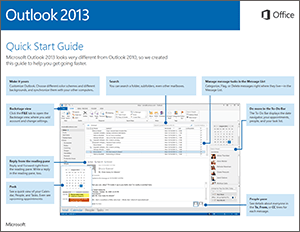 Outlook 2013 quickstart guide icon