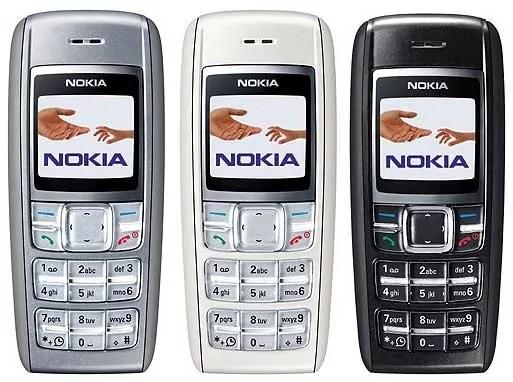 Nokia 1600 ilitolewa kwa rangi tatu tofauti