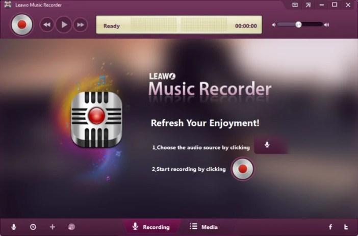 Leawo Music Recorder Rekodi muziki na sauti kwenye Kompyuta