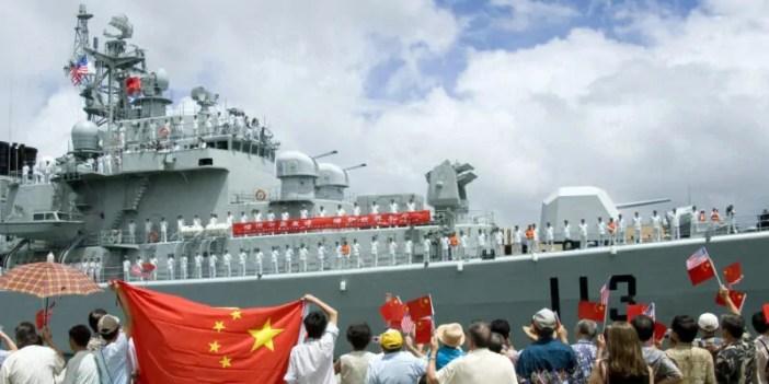 Moja ya meli kubwa ya kijeshi inayomilikiwa na China