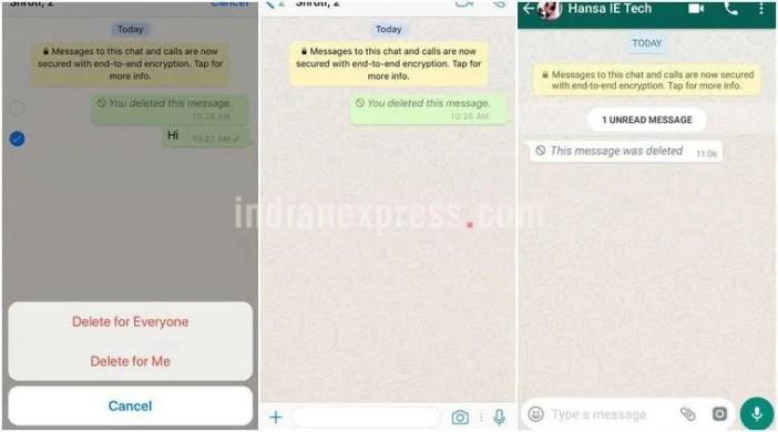 Kufuta ujumbe uliotuma kimakosa WhatsApp ata Lisaa 1 Baadae