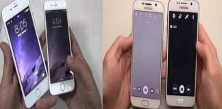 Smartphone Android Palsu dan Asli (ilustrasi)