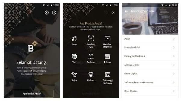 BIIMA, Hak Kekayaan Intelektual, Aplikasi Android, Badan Ekonomi Kreatif