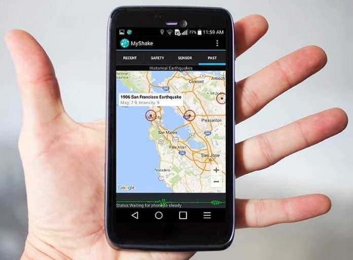 MyShake, Pendeteksi Gempa Bumi, Gempa Bumi, Smartphone, Android, Aplikasi