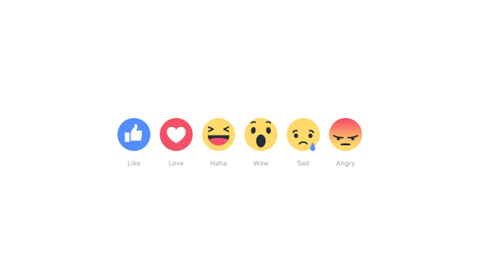 Facebook, Fitur Reactions, Like