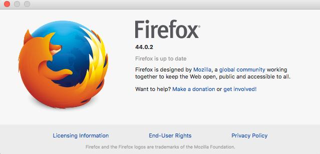 Mozilla Firefox 44.0.2