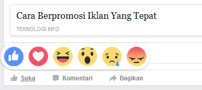 Facebook, Fitur Reactions, Like
