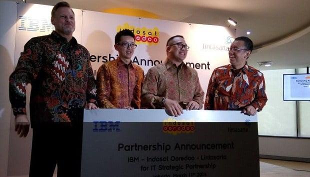 Indosat Ooredoo, IBM, Lintasarta, Layanan Solusi IT