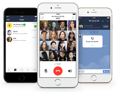 Line, Group Call