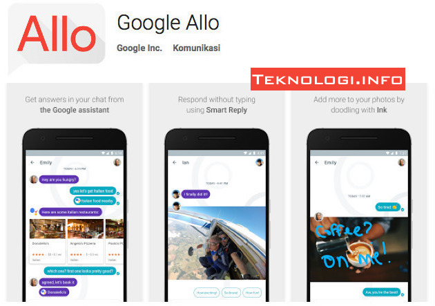 Google Allo Apl Android di Google Play