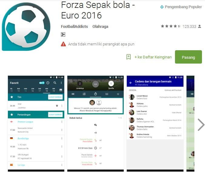 Forza Sepak bola - Euro 2016