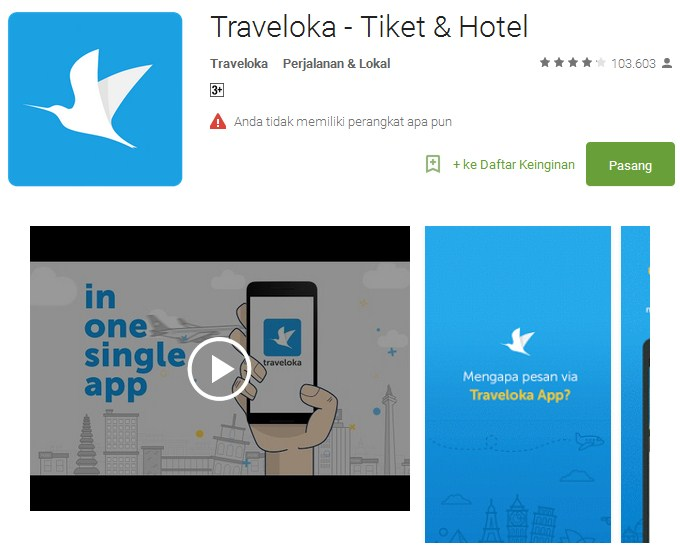 Traveloka - Tiket & Hotel