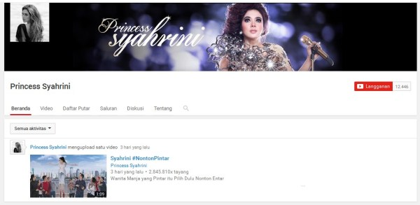 Official Channel YouTube Syahrini