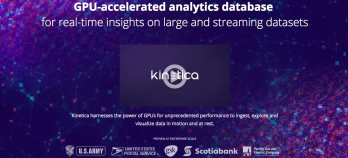 Kinetica GPU Database for Advanced Analytics