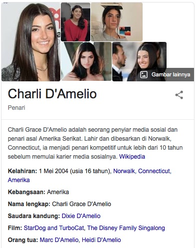 Profil Charli D Amelio