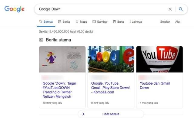 Penelusuran Google Tetap Online