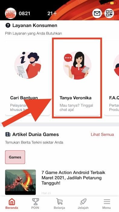 Menu Tanya Veronika Asisten Virtual di Aplikasi MyTelkomsel