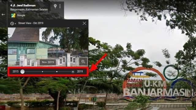 memilih tahun histori Street View