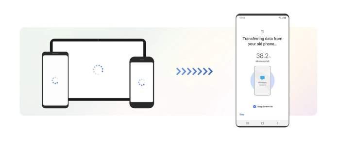Transfer data dari perangkat lain menggunakan Samsung Smart Switch