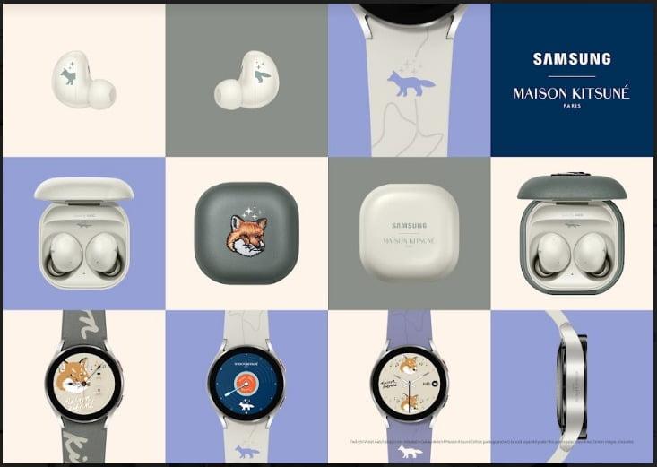Galaxy Watch4 dan Galaxy Buds2 Edisi Kolaborasi Samsung-Maison Kitsuné