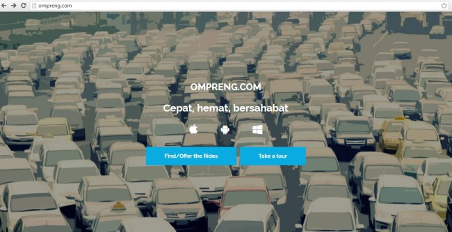 ompreng.com, omprengan, aplikasi online