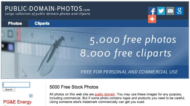 website gratis, website foto gratis, public domain