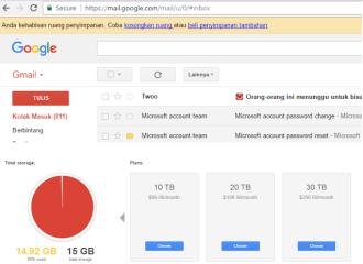 penyimpanan Gmail