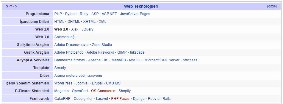 web-teknolojileri