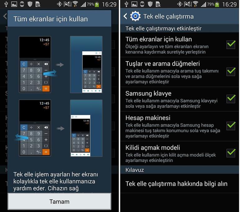 Samsung Galaxy Note 3 ekran küçültme nasıl yapılır