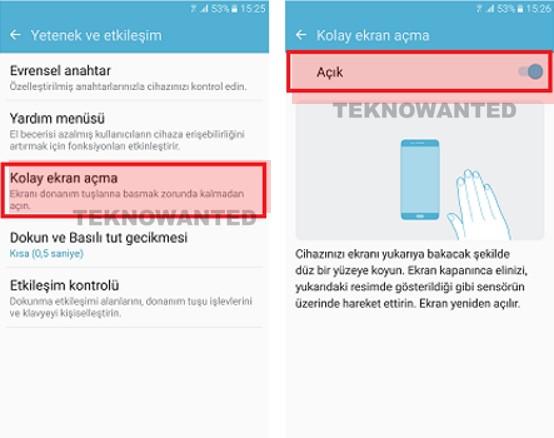 Galaxy Note 5 ekrana dokunmadan Ekran açma özelliği (3)