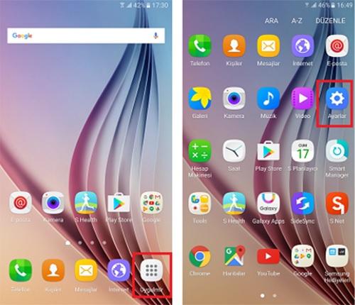Android_Uygulamalar-Ayarlar