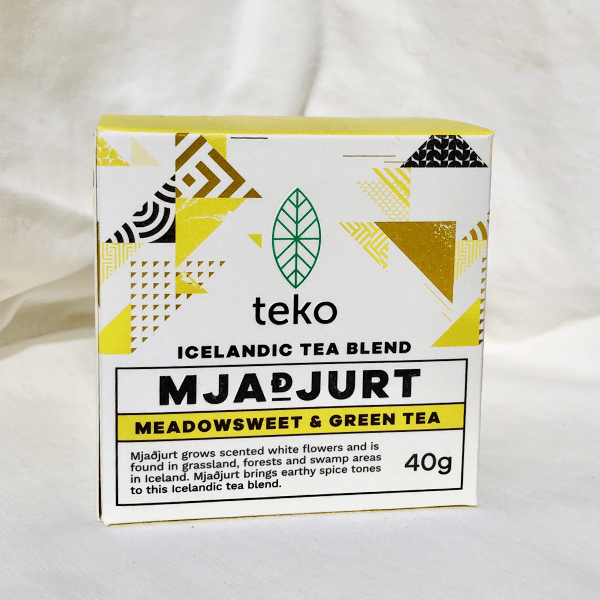 Traditional Icelandic Tea Blend MJADJURT, Meadowsweet and Green Tea - Earthy Spice Tones