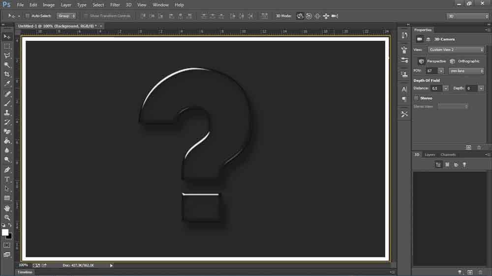 3D option in Adobe Photoshop CS6  Image