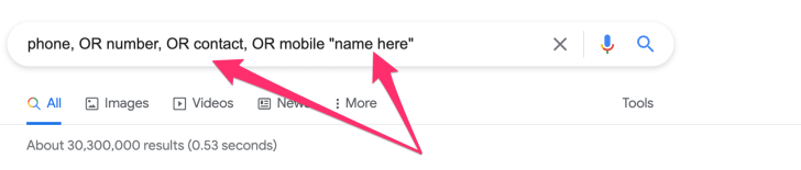 How to find someone's phone number on Google