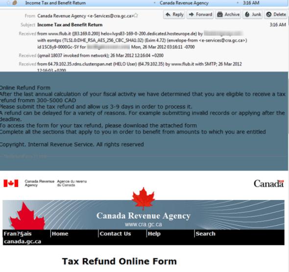 CRA scam