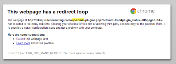 redirect error