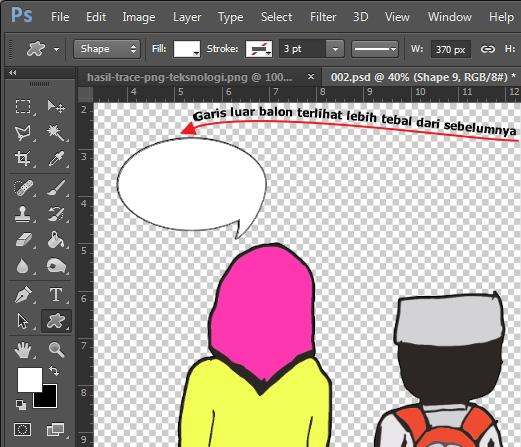 Garis Balon Komik Photoshop Teksnologi Teksnologi