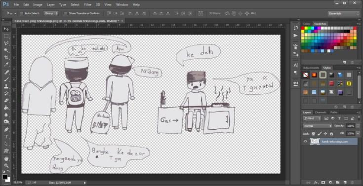komik-transparan-photoshop-teksnologi