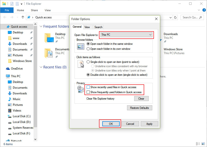 disable-quick-access-folder-options-file-explorer-windows10